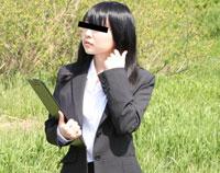 【無修正】天然むすめ 外で面接を行うドスケベ痴女 田中美里