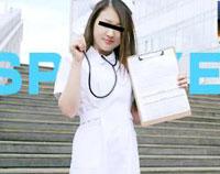 純コス☆ 超カワイイむっちりナースが白衣姿のままエッチ♪ リオ