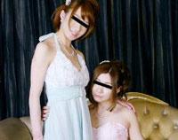 レズフェティシズム ~ドレス姿の美麗レズカップルがイチャイチャ~ クルミ&クミ