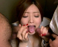 【エロ動画】痴漢されて発情する… エリートOL 羽田あい