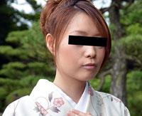 【無修正】着物でプチ露出 児島麻美 30歳