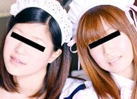 【無修正】レズフェティシズム ~メイド服の巨乳レズカップル~ メイ&藍那