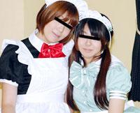 レズフェティシズム ~メイドカフェ勤務のビアンが3P~ サリ&アヤ