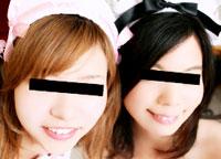 レズフェティシズム ~メイド服の私生活と公開3P~ シーナ&サナ