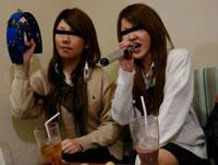 女子校生中出し乱交!悪ノリ4人組ビデオが流出!! 蘭子&蓮美
