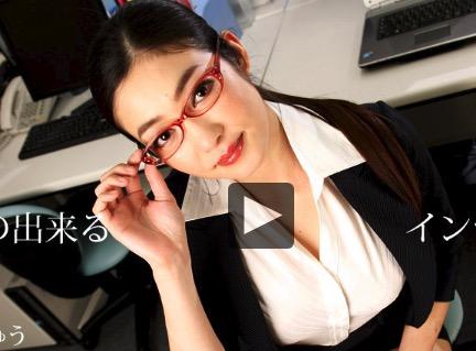 【江波りゅう 無修正 動画】セクシーハイソなOLと残業セックス!タイトミニスカの着衣姿が似合いすぎw