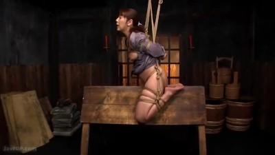 拷問調教される熟女が叫びながらも感じる体にさせられてしまう