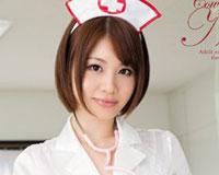 【エロ動画】ガニ股跨り騎乗位ナース 颯希真衣
