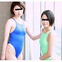 【無修正】1000人斬り レズフェティシズム~美少女2人で競泳水着露出レズ~ ヨミ&リアン