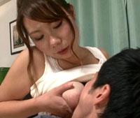 【エロ動画】近親相姦 お母さんの豊乳が僕を誘惑する 新フェチモザイク 北堀舞