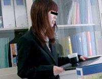 恥辱!! ドジな新人OLにオフィスで体罰!! 河嶋由紀江